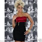 011 CLUBBING PARTY STRETCH BODYCON CONTRAST BLACK/RED DRESS SIZE S M L