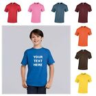 NEW KIDS GIRLS BOYS CHILDRENS 31 COLOURS PLAIN HEAVY GILDAN TSHIRT TOP AGE 7-16