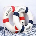 Hotsell Welcome Aboard Cloth Life Ring Beach Wall Boat Preserver Home Decor - SS