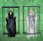 Halloween Skeleton Hanging caged reaper Animated Shaking Cage Decoration