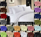"ORGANIC EGYPTIAN COTTON 12""DP FITTED SHEET 1000TC ALL COLOR & SIZE SOLID/ STRIPE"