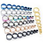 Pair Screw Stainless Steel Ear Gauges Flesh Tunnels Plugs Stretchers Expander