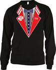 Patriotic Fake Tuxedo USA Flag America 4th of July Uncle Sam Long Sleeve Thermal