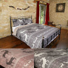 """Stag"" Thermal Brushed Cotton Flannelette Duvet Quilt Cover Bedding Set"