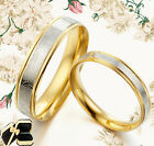 Men Women Gold Titanium Anniversary Wedding Rings GMUS080B2