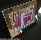 """Personalised S/Plated  Beaded 6 x 4"""" Photo Frame Mr Mrs Wedding Bridesmaid Gift"""