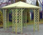 8x8 HIPPED WOODEN GARDEN GAZEBO/SMOKING SHELTER-PRESSURE TREATED TIMBER, TRELLIS