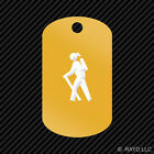 Female Camping Hiker Keychain GI dog tag engraved many colors backpacking