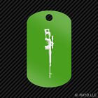 Dragunov Keychain GI dog tag engraved many colors sniper rifle 7.62