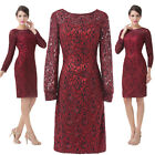 VINTAGE LACE Short mother of the bride/groom Wedding guest Evening Gowns dresses