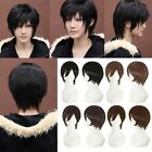 Vogue Short Black Straight Party Cosplay Fashion Men's Women's Hair Full Wig NEW
