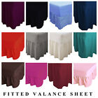 Luxury Percale Non Iron Fitted Valance Sheets Single Double King & Super King