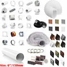 """6"""" 150mm Plastic Round Kitchen Ducting Ventilation Duct Pipe Tube Extractor Fan"""