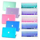 Rubberized Hard Protect Case + Silicone Keyboard Cover for Apple Macbook Pro Air