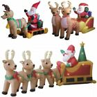 ELECTRIC SELF INFLATING SANTA SLEIGH SLEDGE OUTDOOR CHRISTMAS FIGURE DECORATION