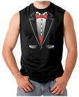 Tuxedo With Bow Tie - Funny  Men's SLEEVELESS T-shirt
