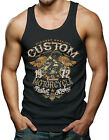 Skull Custom Motorcycle - Bike Men's Tank Top T-shirt