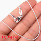 925 Sterling Silver Nickle/lead-free 1.2mm Thin Snake Chain Necklace 16~38 Inch