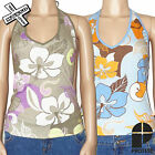 PROTEST 'ZIGGY' WOMENS HALTER TOP SHIRT XS L GREEN BLUE FLORAL 8 14 BNWT RRP £18