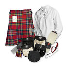 PARTY KIT KILT OUTFIT - STEWART ROYAL - SIZE & UPGRADE OPTIONS !