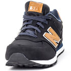New Balance KL574OSG Kids Suede & Synthetic Black Tan Trainers
