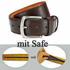 Belt with SAFE - 4 cm wide - can be shortened Money Leather