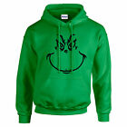 NEW WOMENS MENS KIDS BOYS GIRLS GRINCH CHRISTMAS SCROOGE FESTIVE HOODIE HOODY