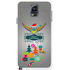 Merry Christmas Xmas Decorations Hard Case For Samsung Galaxy Note 4 (N910)