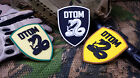 "DON'T TREAD ON ME ""DTOM"" TACTICAL ARMY MORALE AIRSOFT 3D PVC RUBBER PATCH"