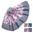 New Ladies Women Chirstmas Double shade 100% Viscose Scarf Shawl Stole Wrap