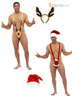 Mens Funny Christmas Mankini Fancy Dress Costumes Secret Santa Joke Present