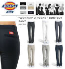 Внешний вид - DICKIES GIRLS  SLIM FIT BOOTS CUT PANTS N882 WORKER WOMEN BLACK KHAKI NAVY