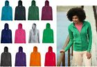 Damen Sweatjacke Sweater Pullover S M L XL 2XL Sweat Jacket Fruit of the Loom