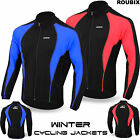 Cycling Jacket Roubix Winter Thermal Fleece Windproof Long Sleeve Bike Coat