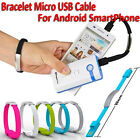 Android Phone Bracelet Wrist Band Charger Portable USB Charging Data Sync Cable