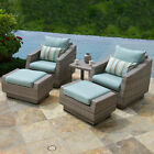 Cannes 5 Piece Club Chair and Ottoman Set