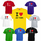 I Heart love your own text T Shirt funny t-shirt town city person band