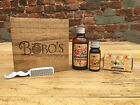 ULTIMATE MENS BEARD CARE GIFT SET BEARD OIL MOUSTACHE WAX BEARD BOMB AND COMB