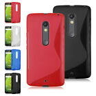 Flexible Soft TPU Silicone Clear Back Case Cover For Motorola Moto X Play XT1562