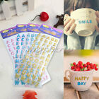 2X Glitter Crystals Alphabet Letter Sticker Self Adhesive ABC A-Z Words Stick On