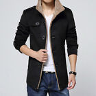 2015 New Men's Winter Wool Single-Breasted Coat M-4XL Trench Parka Overcoat FO