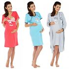 Zeta Ville Maternity - Women's Nursing Nightdress Robe Set Labour Hospital 126c
