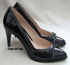 NEW CLARKS DEETA BOMBAY BLACK PATENT LEATHER SHOES SIZE 7 / 41