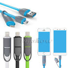 2 in 1 CREDIBLE MICRO USB + LIGHTNING SYNC CABLE CHARGER ADAPTER DATA FOR IPHONE