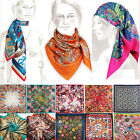 Women Ladies Oil Painting Scarf Casual Vintage Art Chic Silk Scarf Shawls Wraps