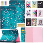 Cute Pattern Leather Wallet Case Stand Cover for iPad 2 4 5th Gen/Air 2/Pro/Mini