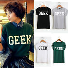 Chic Short Sleeve Shirts Fashion T-Shirt Letters Tops Casual Blouses Pullovers A