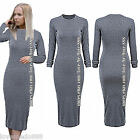Womens Wear to Work Casual Party Clubwear Long Sleeves Long Dress Bodycon S-4XL