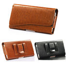 Horizontal Leather Case Pouch Belt Clip Holster for iPhone 6 6S Plus Galaxy LG