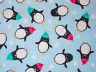 Christmas Penguins Quilting Fabric Timeless Treasures, Fat Quarter, By the Yard